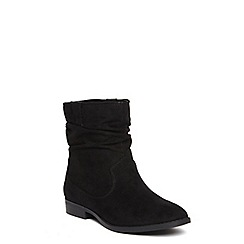 Dorothy Perkins - Black 'marlin' ruched boots