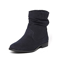 Dorothy Perkins - Navy 'marlin' ruched boots