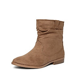 Dorothy Perkins - Taupe 'marlin' ruched boots