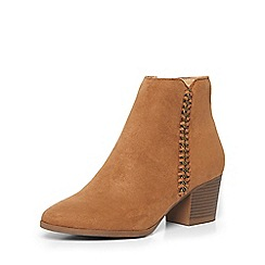 Dorothy Perkins - Tan 'macy' chain ankle boots