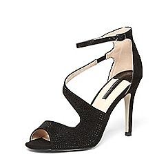 Dorothy Perkins - Black 'rosa' asymetric sandal heels