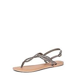 Dorothy Perkins - Pewter 'Frances' leather sandals