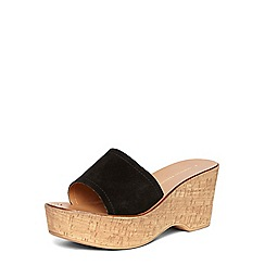 Dorothy Perkins - Black 'rodeo' studded wedges
