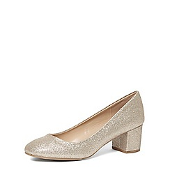 Dorothy Perkins - Gold 'daze' block heel courts