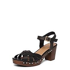 Dorothy Perkins - Black 'ross' twist clog sandals