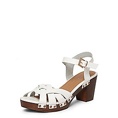 Dorothy Perkins - White 'ross' twist clog sandals