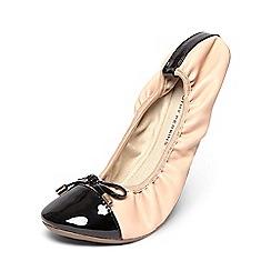 Dorothy Perkins - Nude 'Paige' toecap ballerina flat shoes