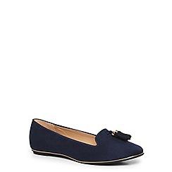 Dorothy Perkins - Navy 'heston' tassel slipper