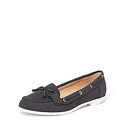 Dorothy Perkins - Navy 'lowe' boat shoes