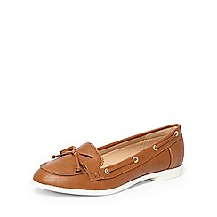 Dorothy Perkins - Tan 'lowe' boat shoes