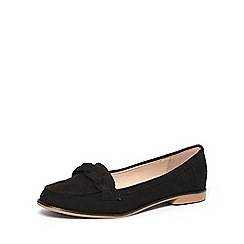 Dorothy Perkins - Black 'liana' plaited loafers