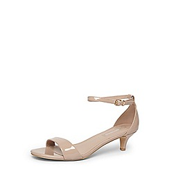 Dorothy Perkins - Nude patent 'Sundae' low sandals