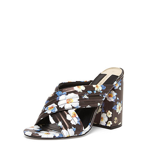 Dorothy Perkins - Floral +sydney+ cross over mules
