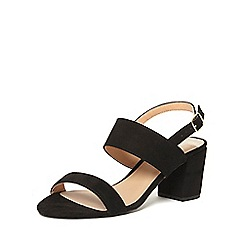 Dorothy Perkins - Black 'sally' two strap sandals