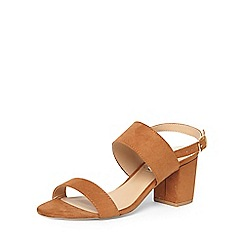 Dorothy Perkins - Tan 'sally' two strap sandals