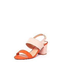 Dorothy Perkins - Online exclusive orange 'Sally' sandals