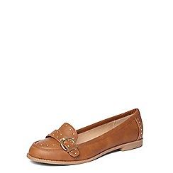 Dorothy Perkins - Tan 'lark' studded loafers