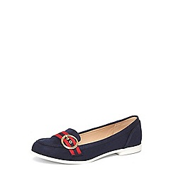 Dorothy Perkins - Navy 'lavender' buckle loafers