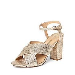 Dorothy Perkins - Gold 'spring' cross over sandals