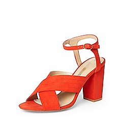 Dorothy Perkins - Orange 'spring' cross over sandals
