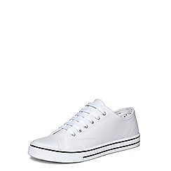 Dorothy Perkins - White 'carla' lace up trainers