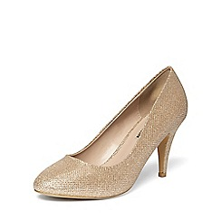 Dorothy Perkins - Gold 'claudia' workwear courts