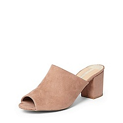 Dorothy Perkins - Mauve 'Saturn' coverage mules