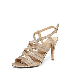 Dorothy Perkins - Gold song sandals