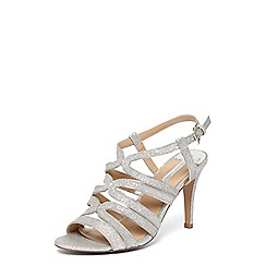 Dorothy Perkins - Silver song sandals