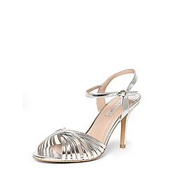 Dorothy Perkins - Silver 'Spiral' strappy sandals