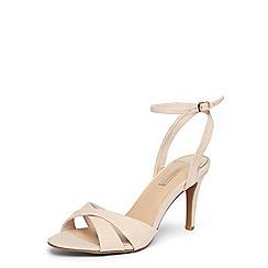 Dorothy Perkins - Nude 'sahar' cross over sandals
