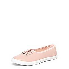 Dorothy Perkins - Blush 'Image' lace up trainers