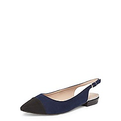 Dorothy Perkins - Navy hobby slingback shoes