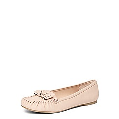 Dorothy Perkins - Blush 'ladybird' flat moccasin loafers