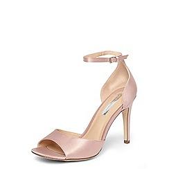 Dorothy Perkins - Blush satin 'Shay' sandals