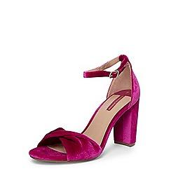Dorothy Perkins - Fuchsia 'shani' velvet sandals