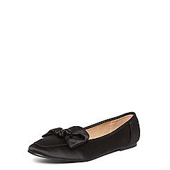 Dorothy Perkins - Black 'lavette' satin loafers
