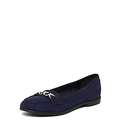 Dorothy Perkins - Navy 'lydia' chain loafers