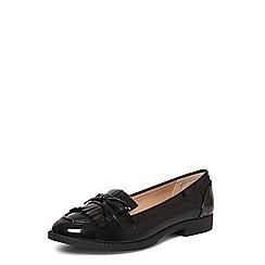 Dorothy Perkins - Black 'lotty' fringe loafers