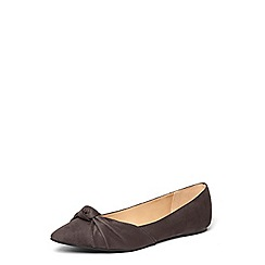 Dorothy Perkins - Grey 'hollie' knot point pumps