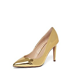 Dorothy Perkins - Gold metallic 'Evie' court shoes