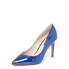 Dorothy Perkins - Cobalt metallic 'Evie' court shoes