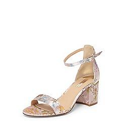 Dorothy Perkins - Pink floral 'seline' sandals