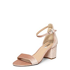 Dorothy Perkins - Blush 'seline' velvet sandals