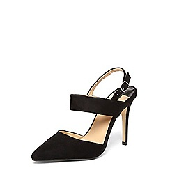Dorothy Perkins - Black 'Gerry' slingback court shoes