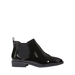 Dorothy Perkins - Black patent moon chelsea boot
