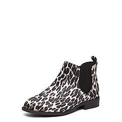 Dorothy Perkins - Leopard print 'Moon' chelsea boots