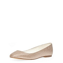 Dorothy Perkins - Gold square toe pumps