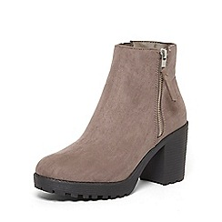 Dorothy Perkins - Grey 'minny' chunky ankle boots