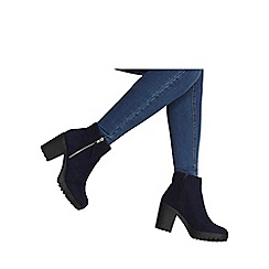Dorothy Perkins - Blue 'minny' chunky ankle boots